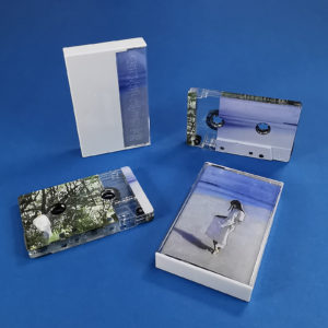 Clear prison cassette tapes with partial on-body print to create a unique reveal