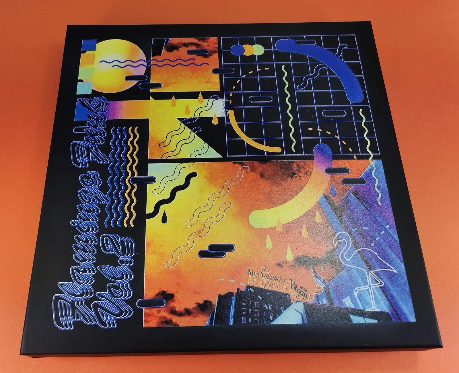 12 inch vinyl black boxset with full colour UV-LED lid printing