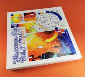 12 inch vinyl white boxset with full colour UV-LED lid printing