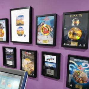 Games company award frames