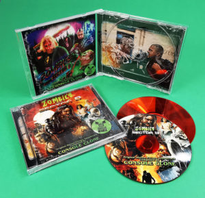 Zombies from Sector 9 film soundtrack in jewel cases with red data side CDs