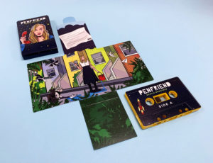 Sunset yellow cassette shells with full coverage on-body printing in full colour printed Maltese cross packs